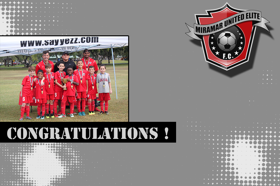 Congratulations to the U-10 Red Boys
